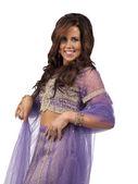 有吸引力的女性身穿印度传统服饰 — 图库照片