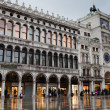 Rainy evening on San-Marco square - Stock Photo