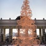 New Year tree at Gorky park Moscow — Stock Photo #18304657