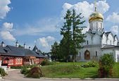 Cathedral in Savvino-Storozhevsky Monastery in Zvenigorod. Russia. — Stock Photo
