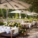 Summer restaurant terrace — Stock Photo