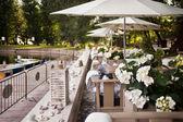 Esplanada de restaurante — Foto Stock