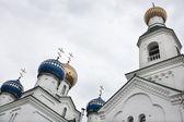 Domes of Saint Nicolas cathedral. Bobruysk. Belarus. — Stock Photo
