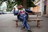 Stad sculptuur beaver. bobruysk.belarus. — Stockfoto