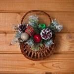 Christmas basket — Stock Photo #34931847