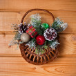 Christmas basket — Stock Photo #34931853