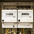 Two- phase electricity meter — Stock Photo