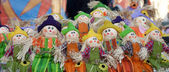 Rag-babies at Maslenitsa festival — Stock Photo