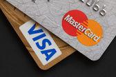Visa and Mastercard — Stock Photo