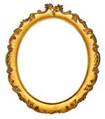 Retro / vintage golden photo / picture frame isolated on white background — Stock Photo