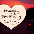 Happy Father's Day picture image illustration with car street road traffic background isolated writing handwriting — Stock Photo