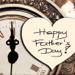 Happy Father's Day picture image illustration with clock background isolated writing handwriting  — Stock Photo