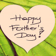 Happy Father's Day picture image illustration with green leaf background isolated writing handwriting — Stock Photo
