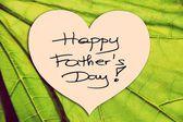 Heureuse illustration image photo de fête des pères avec écriture écriture fond isolé feuille verte — Photo