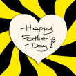 Yellow and Black Happy Father's Day picture image illustration background — Stock Photo