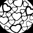 Heart hearts background love emotions intimacy relationship — Photo