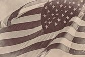 United Stated US American patriotic flag sepia retro vintage background — Stock Photo