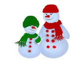 Inverno e pupazzo di neve — Foto Stock