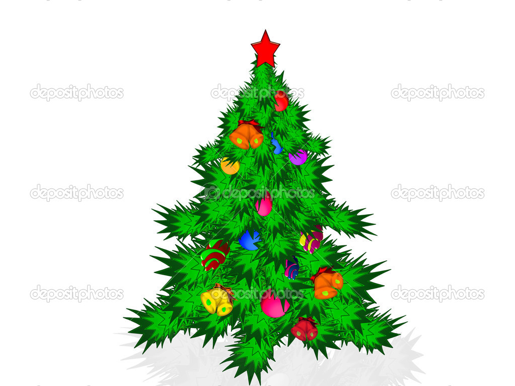 Christmas tree and toys — Stock Photo #16019221