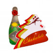 Champagne and chocolates. holiday — Stock Photo