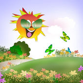 The sun smiles — Stock Photo