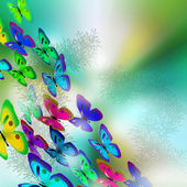 Achtergrond. vlinders — Stockfoto