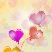 Background. balloons — Stock Photo