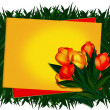 Stock Photo: Greeting card. Tulips.