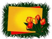 Carte de voeux. tulipes. — Photo