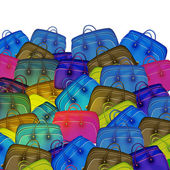 Colorful travel bags — Stock Photo