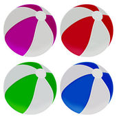 Illustration of colorful beach balls — Stock Photo