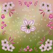 Pozadí z květů jablko — Stock fotografie