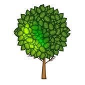 緑の葉の木 — ストック写真