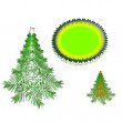 Illustration of Christmas tree — Stock Photo