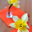 Stock Photo: Narcissus in glass.