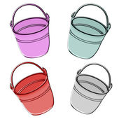 Metal bucket. Illustration. — Stock Photo