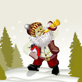 Santa Claus in the forest. — Stock Photo