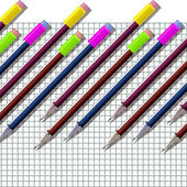 Pencils. School notebook. — Stock Photo