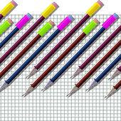 Lápis. caderno de escola. — Fotografia Stock