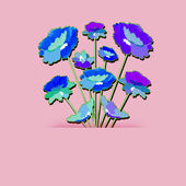 Abstract background of flowers. — Stock Photo