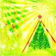 Stock Photo: Christmas tree. Background