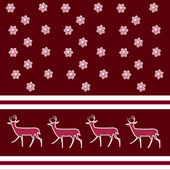 Christmas background. Deer. — Stock Photo
