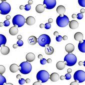 Formula of water. H2O — Stock Photo