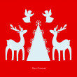 Deer. Angel. Christmas tree. Christmas. — Stock Photo