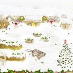 Rural landscape. Winter. — Stock Photo