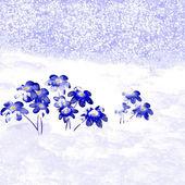 Snowdrop. Illustration. — Stock Photo