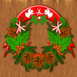 Stock Photo: Christmas wreath.