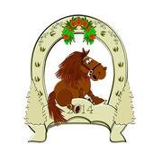Horseshoe. Horse symbol 2014. — Foto Stock