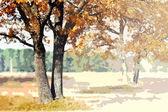 Jesień krajobraz. — Zdjęcie stockowe