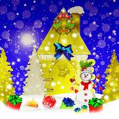 Holiday. Christmas. Snowman. — Foto Stock